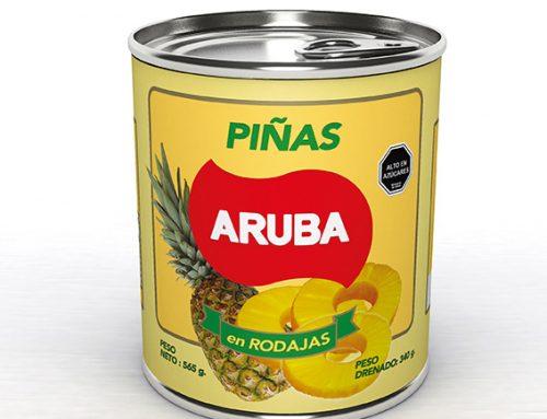 Desarrollo de Mock UP en 3D Productos Aruba (Conservas-Fruta)
