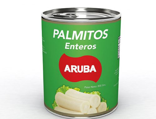 Desarrollo de Mock UP en 3D Productos Aruba (Conservas-Palmitos)
